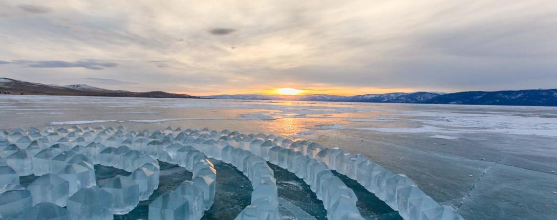Лабиринт. Байкал. Лед